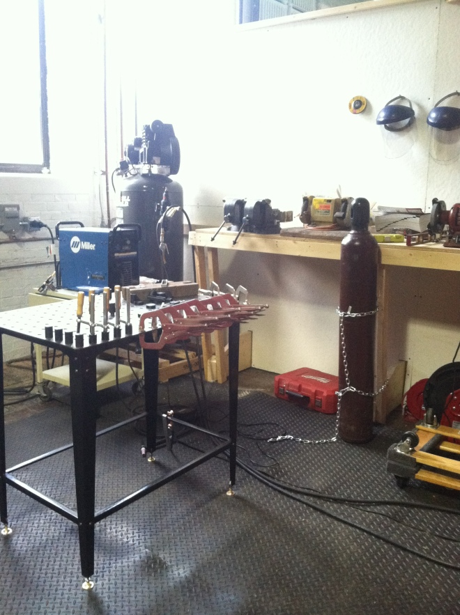 Metalworking space at Generator studio